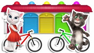 Learn Colors With Talking Tom Mountain Bike For Children, Toddlers And Babies