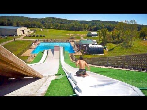 Epic Slip N Slide Pool Party 2013