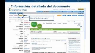 Compendex Engineering Village en español