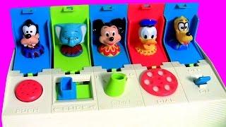 Mickey Pop Up Pals Dumbo Pateta Pluto e Pato Donald Brinquedos Surpresa de bebê em Portugues BR