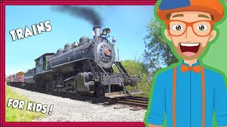 Trains for Kids by Blippi | Educational Videos for Toddlers and Children