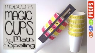 MODULAR MAGIC CUPS_Ideas to recycle foam cups for Math, Literacy, Spelling games | Edu Props