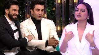 Sonakshi Sinha's SHOCKING Comment On Ranveer & Ranbir's Non Veg Jokes On Koffee With Karan Season 5