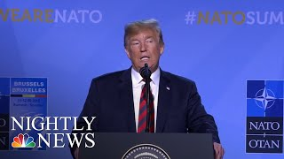 Donald Trump Says Leaving NATO Is 'Unnecessary,' Claims Allies Will Boost Funding | NBC Nightly News