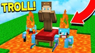 TROLLING YOUTUBERS ON MINECRAFT BEDWARS! (Minecraft Trolling)