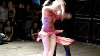 Luis Aguilar and Anya Katsevman competing at the NY/NJ sasla open