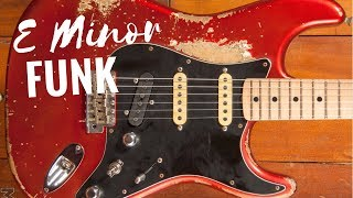 Funky Groove Guitar Backing Track Jam in Em