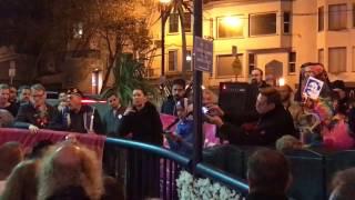 Zahra Billoo talks at the Harvey Milk Memorial Vigil