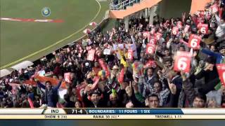 India - England 5th ODI - Raina Scores 83