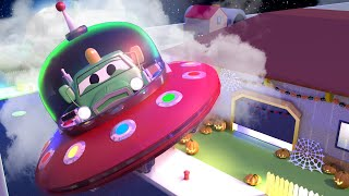 Trick or Treat! with the Baby Cars in Car City ! - Cartoon for kids Special HALLOWEEN