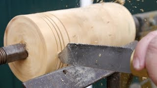 Testing my home made hack saw parting tool