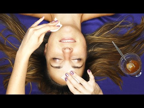 ASMR Massage & Facial Treatment w/ Sticky Fingers & Binaural Ear to Ear Whisper
