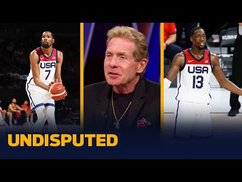 KD and Bam Adebayo have scuffle at Team USA photoshoot Skip & Shannon I NBA I UNDISPUTED