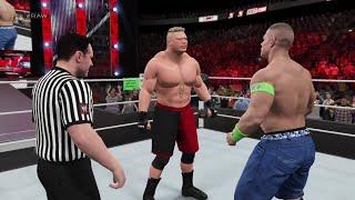 WWE 2K15 John Cena vs Brock Lesnar at RAW 2015 (PS4) HD