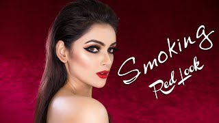 Smoking Red Look I Sharlina Hossain  I Kona By Farnaz Alam | Makeup Tutorial
