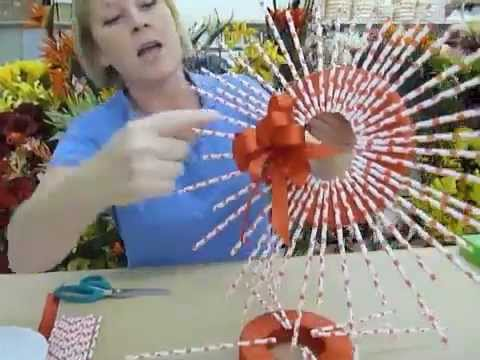 Crankin Out Crafts ep188 Straw Wreath