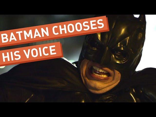 Batman Chooses His Voice