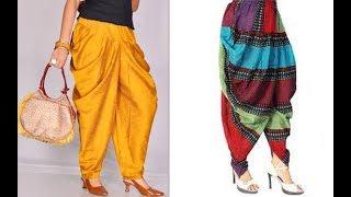 How to make latest designer dhoti harem pants cutting and stitching tutorial DIY (Hindi version)