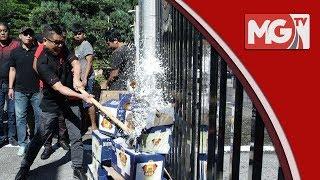 Pesta Arak: Jamal 'mengamuk' pecahkan arak depan SUK