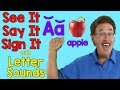 Download Video Download See It, Say It, Sign It | Letter Sounds | ASL Alphabet 3GP MP4 FLV