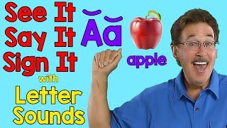 See It, Say It, Sign It | Letter Sounds | ASL Alphabet