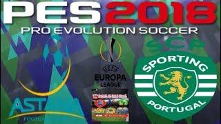 PS4 PES 2018 Gameplay Astana vs Sporting Lissabon [HD]
