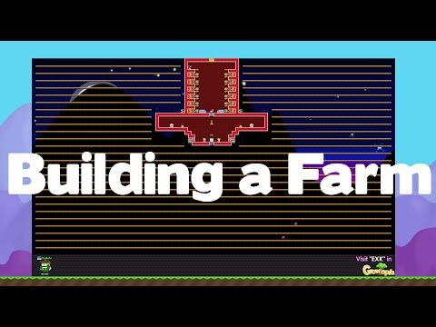 Growtopia - Building a Farm [Speedbuild]