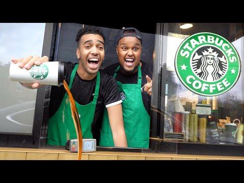 We Pretended To Work At Starbucks Drive Thru Fake Employee Prank