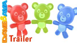 🐻Five Little Gummy Bears – Trailer | Nursery Rhymes and Kids Songs| Count 1 to 5 with Dave and Ava🐻
