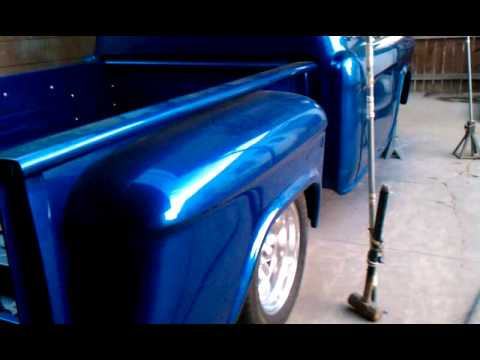 My 56 Chevy truck finished paint job