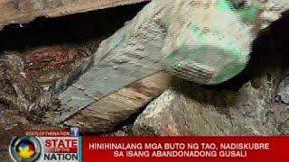 Hinihinalang mga buto ng tao, nadiskubre sa isang abandonadong gusali