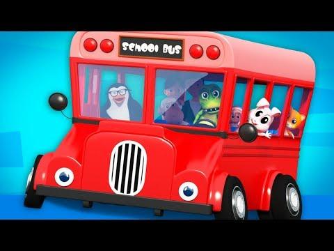 Red Wheels On The Bus | Nursery Rhymes | Junior Squad Cartoons
