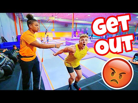 KICKED OUT OF THE TRAMPOLINE PARK FOR BREAKING RULES