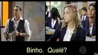 Binho fala inglês com Roberta  e Diego fica com ciúmes