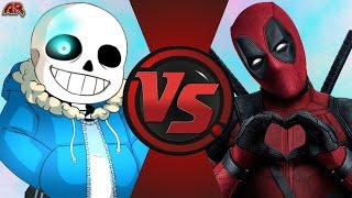 SANS vs DEADPOOL! (Undertale vs Marvel) Cartoon Fight Club Episode 132