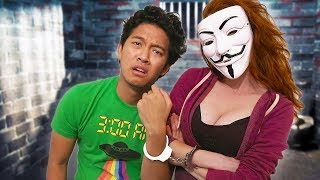 HANDCUFFED TO EVIL HACKER GIRL for 24 hours!!