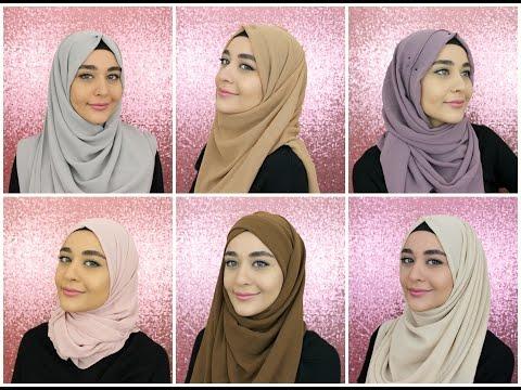 Xxx Mp4 6 Chiffon Square Hijab Tutorials Feat Hijab Samshine Muslim Queens By Mona 3gp Sex