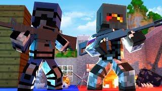 SNIPER vs SNIPER GUN MOD BATTLE! - Minecraft Mods (Flan