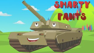 Educational Video for Kids Learning Military Vehicles - Smarty Pants!!!
