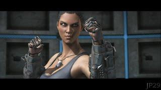 Mortal Kombat X : Jacqui Briggs All Intro Dialogues (MKX)