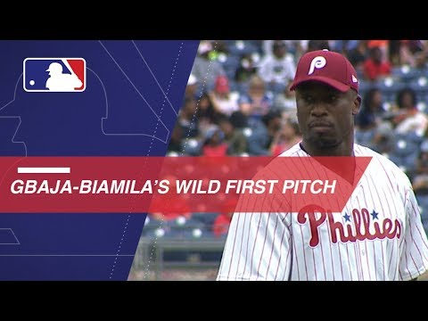 Xxx Mp4 Akbar Gbaja Biamila Throws Out An Abysmal First Pitch 3gp Sex