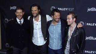 Jensen Ackles, Jared Padalecki, Misha Collins, Alexander Calvert at Supernatural Red carpet Presenta