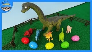 Learn color with toys_episode. Dinosaurs lays color egg. Color surprise egg