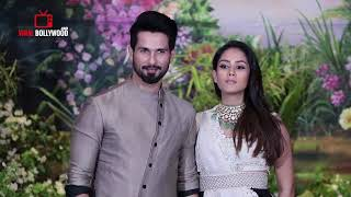 Shahid Kapoor With Pregnant Wife Mira Rajput At Sonam Kapoor's GRAND Wedding Party
