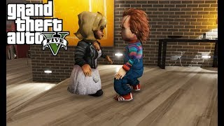 Chucky VS Tiffany - Dolls Fight (GTA 5)