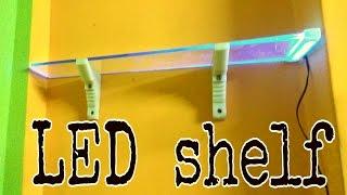How to build a led light shelf