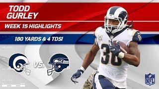 Todd Gurley Highlights   Rams vs. Seahawks   NFL Wk 15 Player Highlights