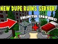 Download Video Download NEW DUPE GLITCH RUINS SERVER! | Minecraft Skyblock (PvPWars) 3GP MP4 FLV