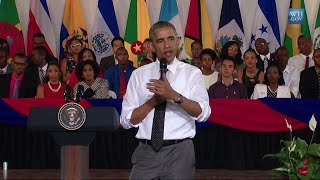 Obama At Jamaican Town Hall