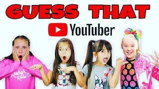 GUESS THAT YOUTUBER CHALLENGE - Is That Ruby Rube or Toys AndMe? JoJo Siwa or Toy Freaks?